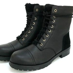 UGG black combat boot sz 5.5 NEW